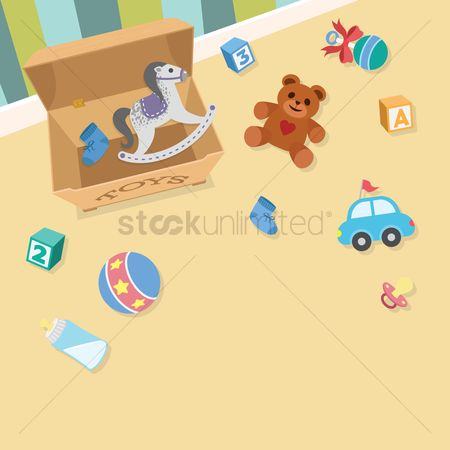 Blocks : Toys in a playroom