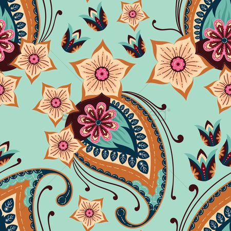 Vintage : Traditional paisley design