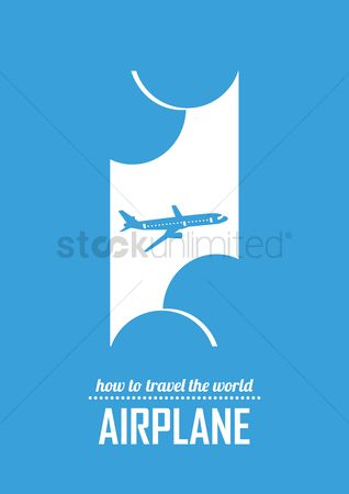 Touring : Travel by airplane poster