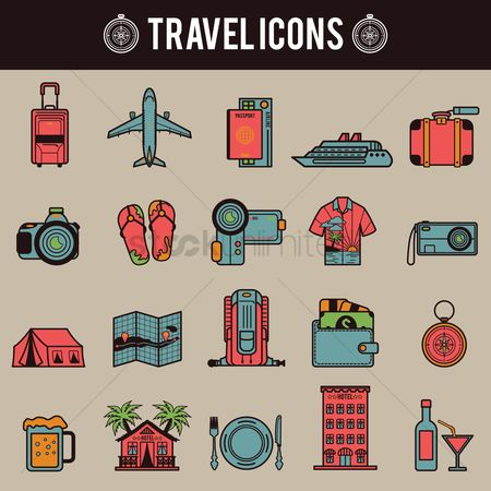Aeroplanes : Travel icons