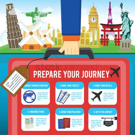 New york : Travel infographic