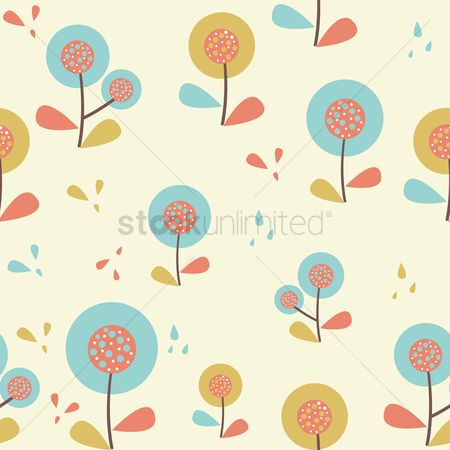 Budding : Tree background design