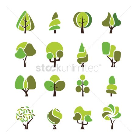 Summer : Tree icon set