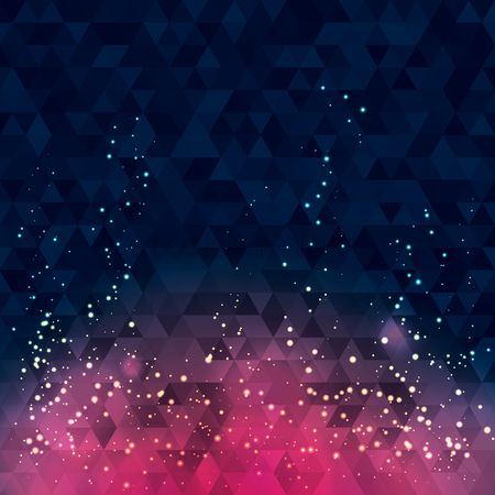 Geometrics : Triangles background with white dots