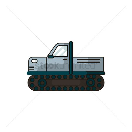 Pick up : Truck with tank treads