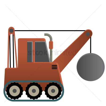 Machineries : Truck with wrecking ball