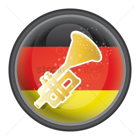 Brass : Trumpet with german flag icon