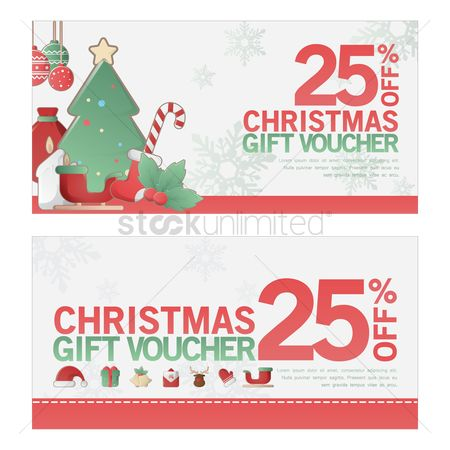 Presents : Two christmas gift vouchers