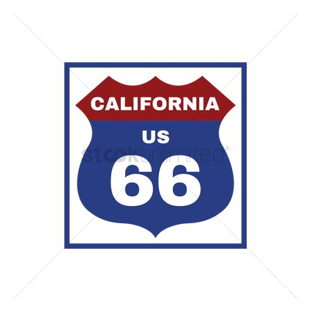 Interstates : Two-digit interstate route shield  california