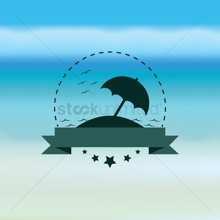 Clears : Umbrella with banner