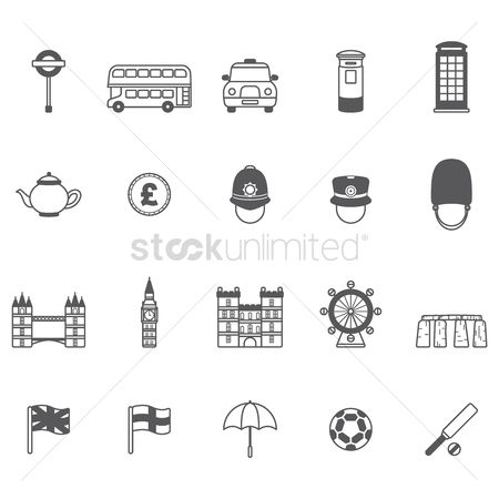 Open : United kingdom general icons