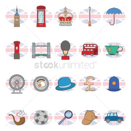 Taxis : United kingdom icons set