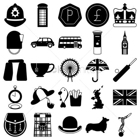 Monuments : United kingdom icons set