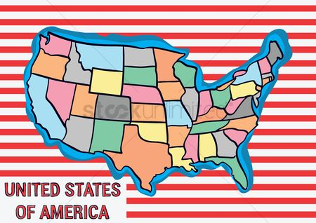 Kansas : United states of america map