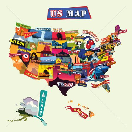 Kansas : Us map
