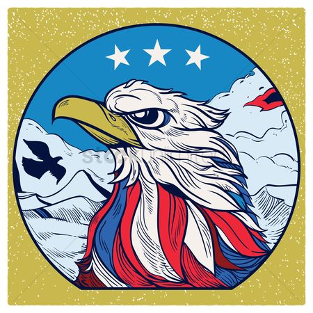 United states : Usa eagle poster