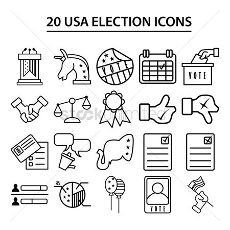 Common balance : Usa election icons
