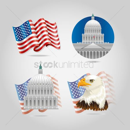 Hawks : Usa icon set