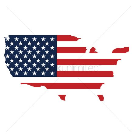 Patriotic : Usa map