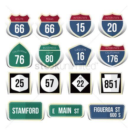Main : Usa road sign collection