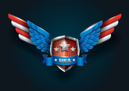 America : Usa shield badge