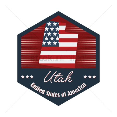 Utah map : Utah label