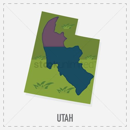 Utah map : Utah map sticker