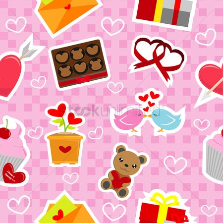 Teddybear : Valentine background