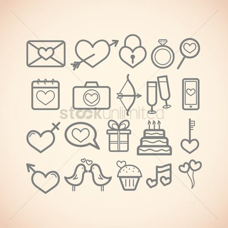Love speech bubble : Valentine s day icons
