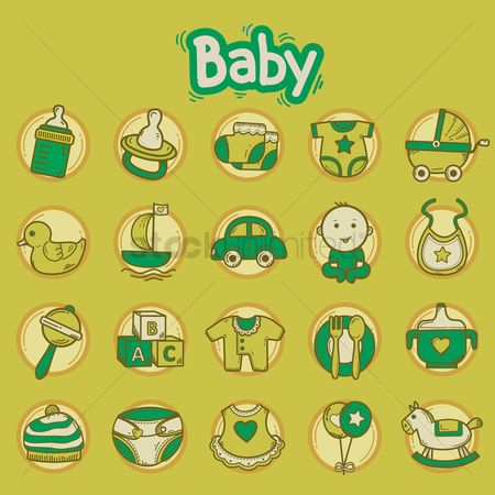 Blocks : Various baby theme icons