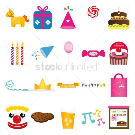 Biscuit : Various birthday related items