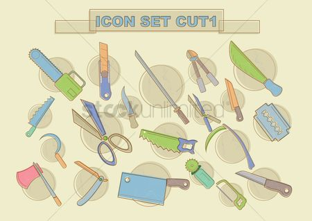 Huge : Various cutting tools