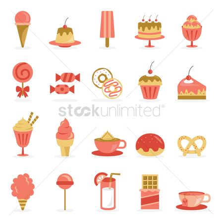 Confections : Various desserts and beverage