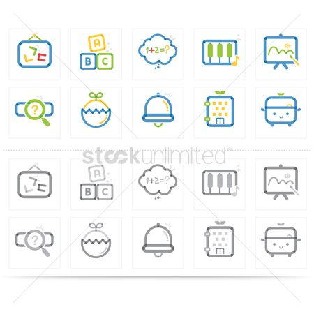 Math : Various education icons