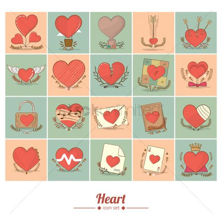 Biscuit : Various heart icons