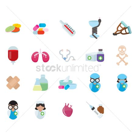 Doctor : Various medical icons