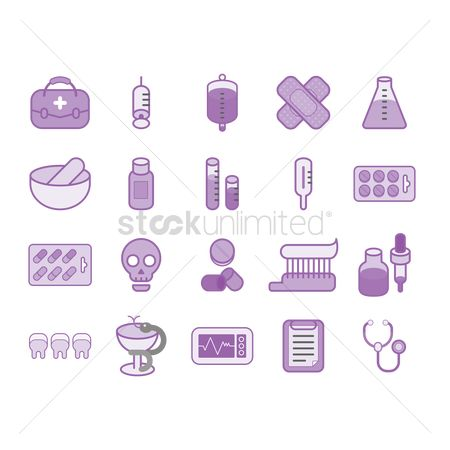 Dripping : Various medical icons