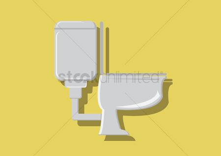 Background : Vector of a toilet bowl