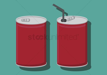Soda drink : Vector of can drinks