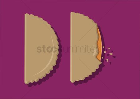Crispy : Vector of pastry puffs