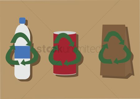 Cutout : Vector of recycle products