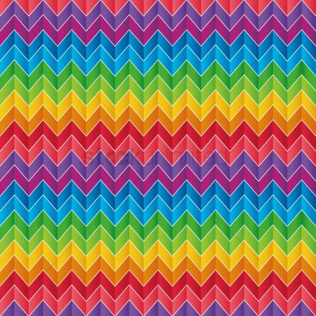 Zig zag : Vibrant rainbow background
