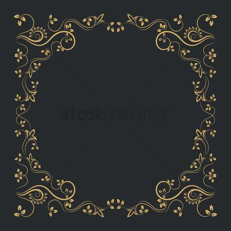 Copy spaces : Victorian vintage frame