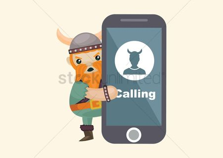 Calling : Viking calling on smartphone