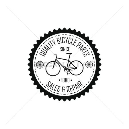 Borders : Vintage bicycle label