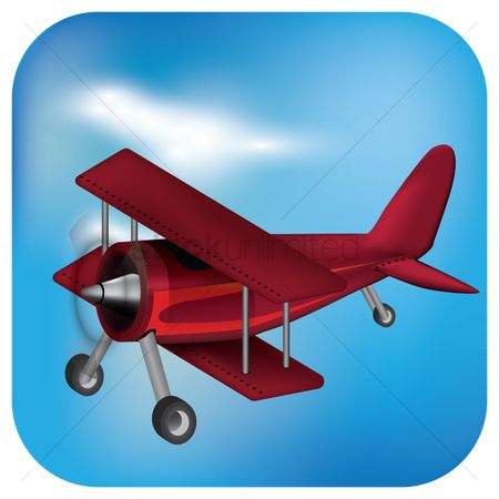 Journeys : Vintage biplane flying over the sky