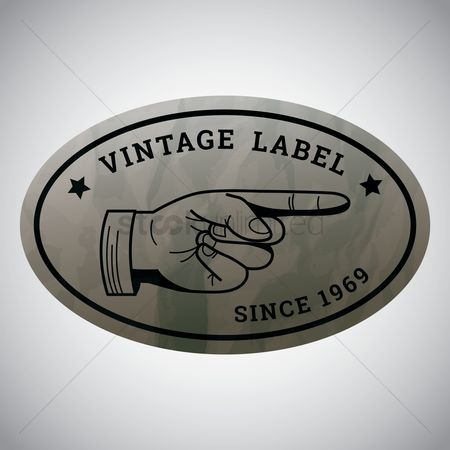 Old fashioned : Vintage label