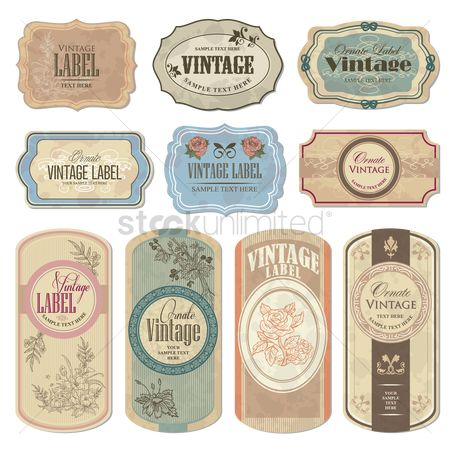 Retro : Vintage labels