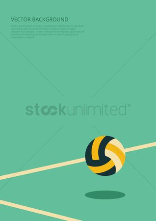 Recreation : Volleyball background design