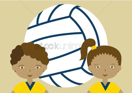 Volleyballs : Volleyball players